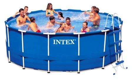Intex Metaal Frame Pool 457 x 122 cm. Set