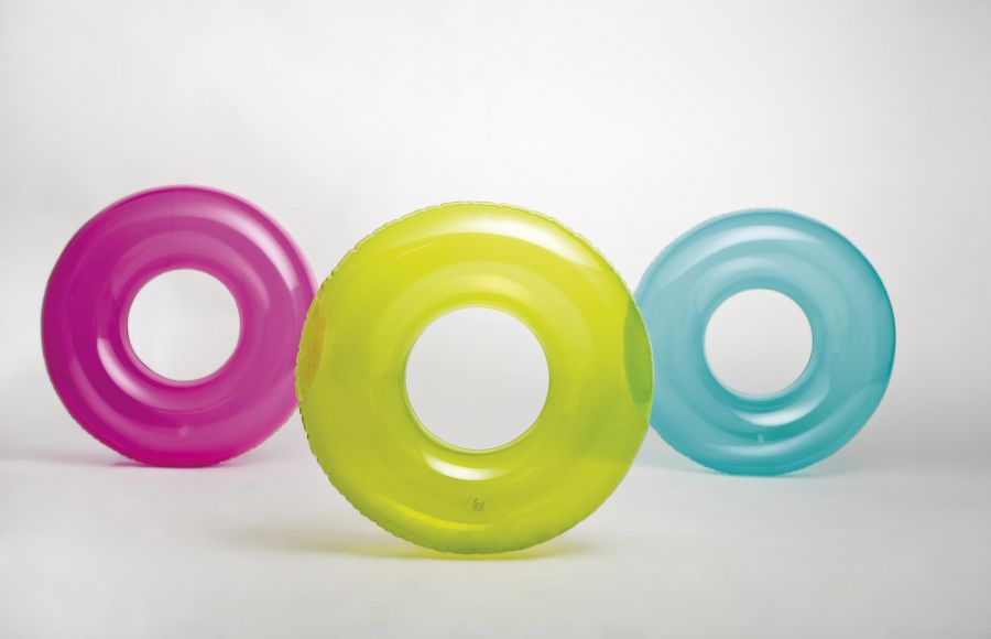 Intex Transparante grote effen zwemband 76 cm.